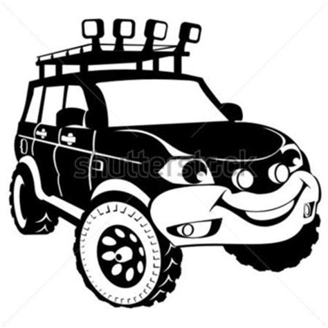 jeep road silhouette silhouette the road car stock vector clipart me