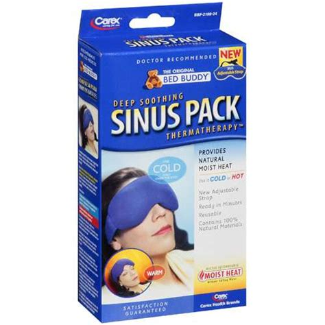 bed buddy sinus pack bed buddy deep soothing sinus pack with strap