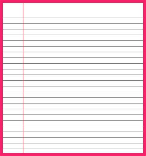 lined paper template word bio letter format