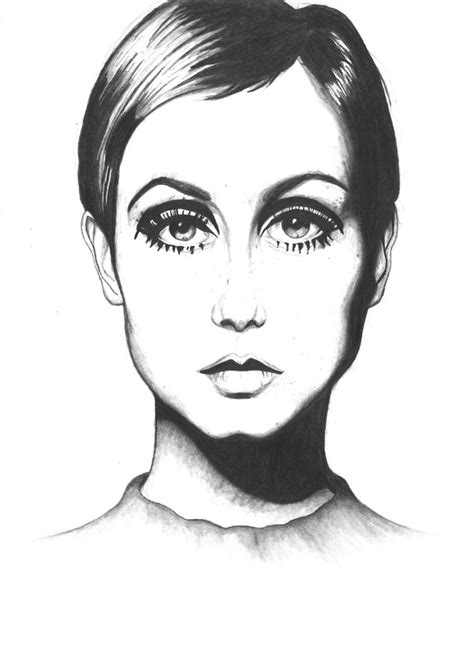 twiggy black and white twiggy pencil drawing by ninaheleen on deviantart