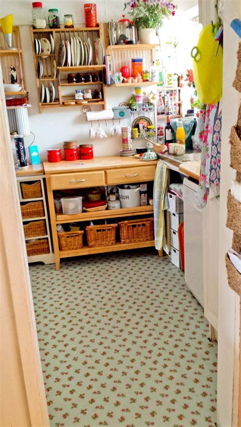 Cath Kidston Kitchen by S Charming Kitchen With Our Sprig Blue Flooring