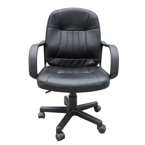 computer swivel chair black pu leather swivel computer chair ideal home show shop