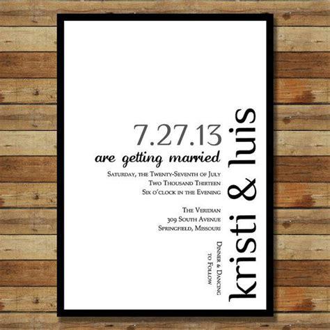 Schlichte Hochzeitseinladungen by Simple Modern Wedding Invitation Basic Stationary Ideas