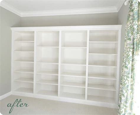secure bookcase to wall diy built in bookshelves using ikea units also includes