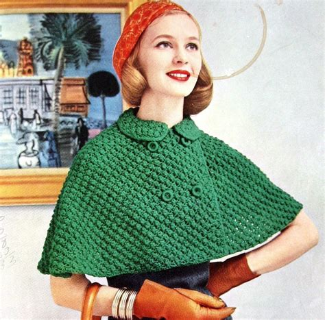 cape pattern etsy womens knitted cape pattern with double breasted closure