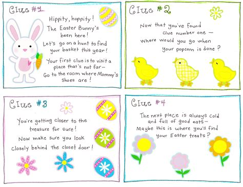 easter morning scavenger hunt free printable happy home