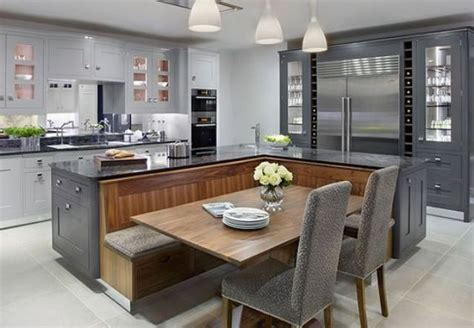 build a kitchen island with seating picture of kitchen island with a built in seating area