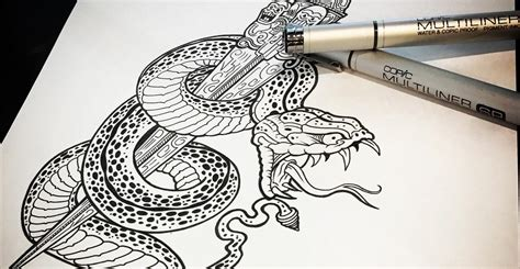 snake and dagger tattoo design snake and dagger design i aint no