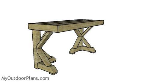 trestle desk plans myoutdoorplans  woodworking