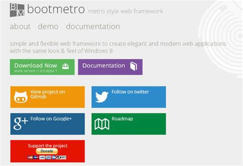 bootstrap ui layout resizer flat ui free framework and bootstrap theme design