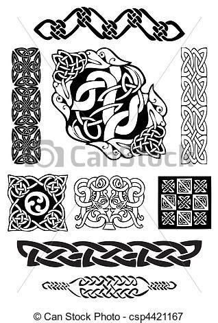 cornici celtiche vectors illustration of celtic collection celtic