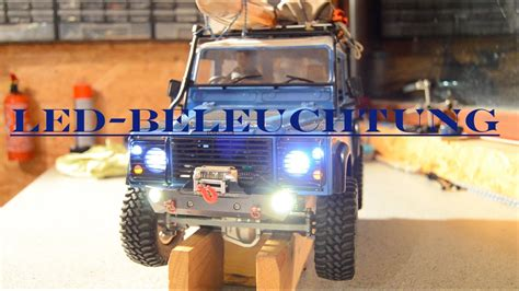 rc beleuchtung rc scale crawler land rover defender led beleuchtung cti