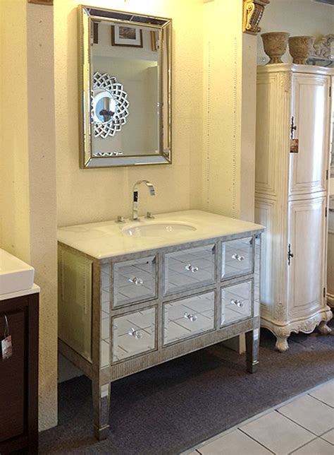 mirrored bathroom vanity 42 quot w