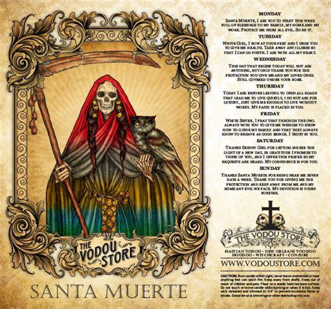 santa muerte colors 7 day candle label santa muerte 7 colors the vodou store