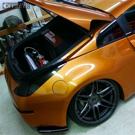 bagged nissan wheel offset 2003 nissan 350z tucked bagged