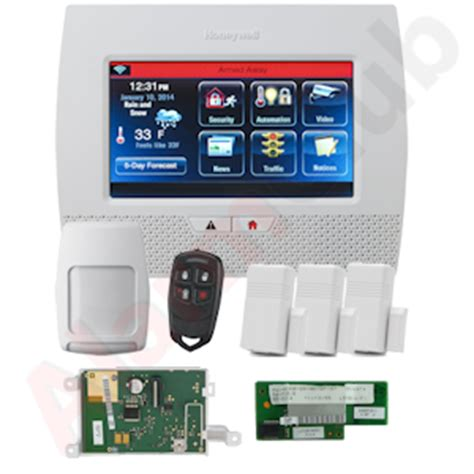 honeywell lynx l7000 dual path wireless security system kit