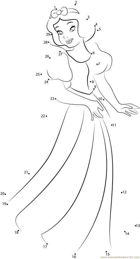 printable elsa puzzle disney princess snow white dot to dot printable worksheet