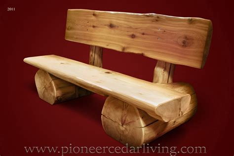 log stools and benches cedar log bench pioneer cedar living
