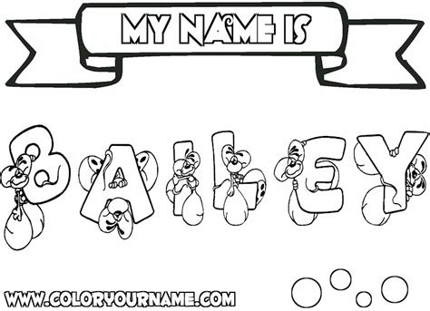 Printable Coloring Pages With Your Name | printable name coloring pages bailey