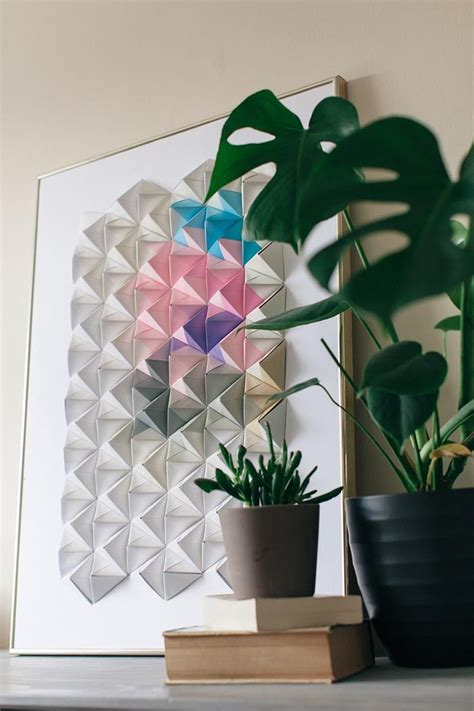 Origami Wall Diy - diy origami wall display crafts