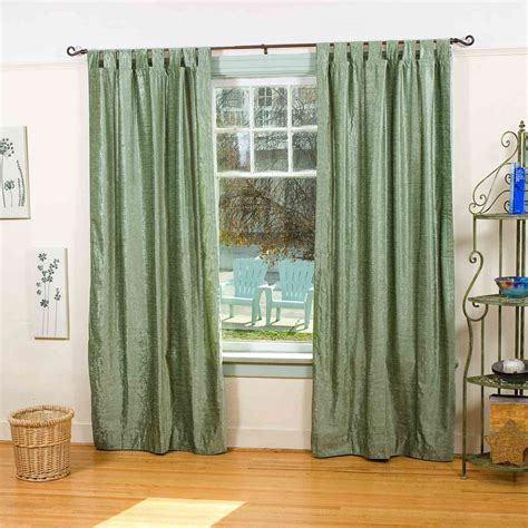 olive green curtain panels olive green tab top velvet curtain drape panel piece