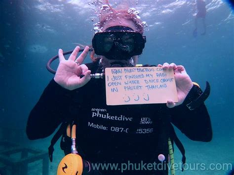 Freediving Open Water Course padi open water diver course with phuket dive tours
