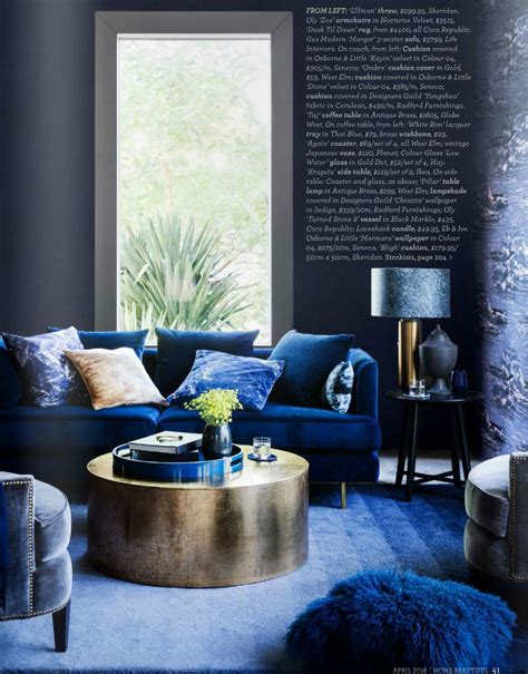 indigo room midnight express colour your home in indigo interiors by color