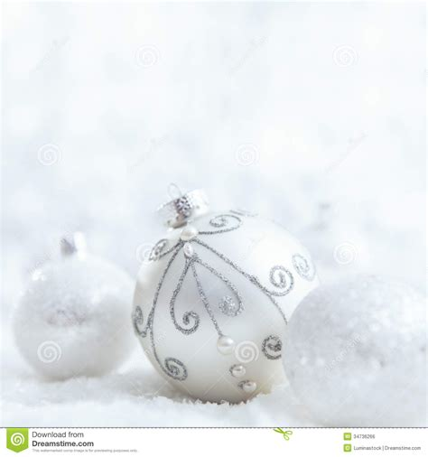 white christmas ornaments royalty free stock image image