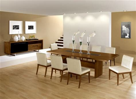 dining room design ideas with brown leather high nice square artwork between high l modern dining room
