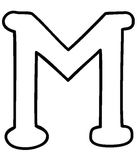 coloring page for letter m 4 best images of capital letter m printable coloring pages