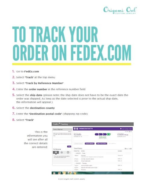 Origami Owl Tracking - how to track your origami owl order on fedex http