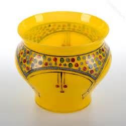 Bohemian Glass Vase Czechoslovakia Antiques Atlas Art Deco Bohemian Yellow Glass Vase