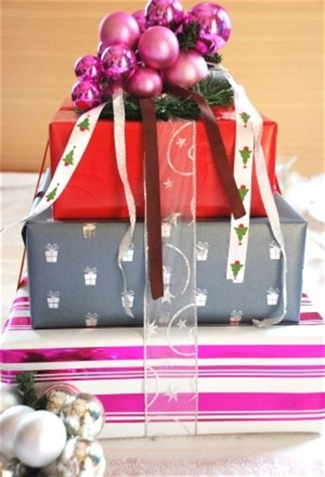 stacked gifts creative christmas centerpiece idea celebrating christmas