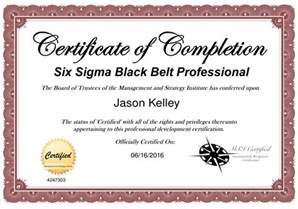 Six Sigma Black Belt Certificate Template by Innovations Project Manager Attains Six Sigma Black