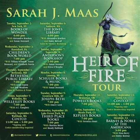 libro heir of fire throne heir of fire us tour dates throne of glass books and book book book