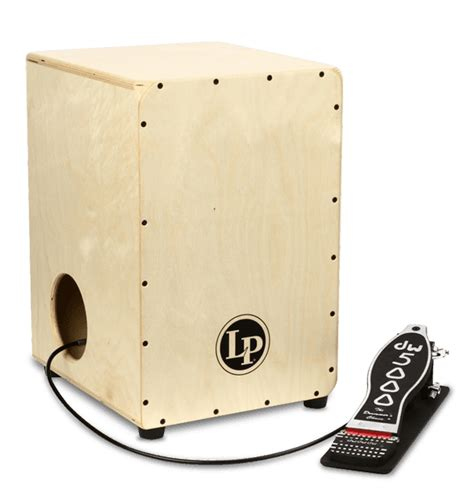 cajon foot pedal lp 174 2 sided cajon with dw pedal percussion 174