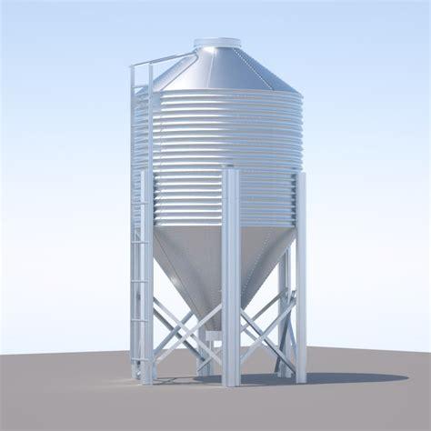 image silo 3d chicken silo feed model