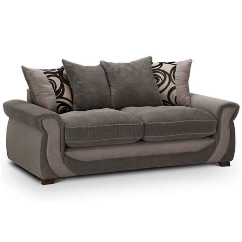 evermore 3 seater pillow back sofa next day delivery