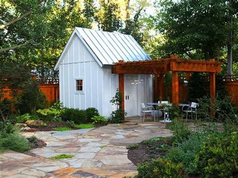 White Garden Shed 8 She Shed Design Ideas With Staying Power Pergolas