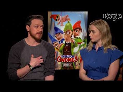 james mcavoy opens up about 'sherlock gnomes' live on