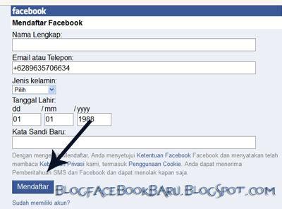 cara membuat id card facebook lewat hp cara buat akun facebook pertama kali di hp dengan nomer