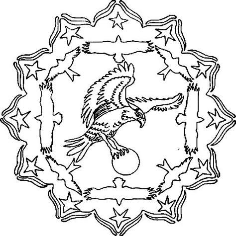 Eagle Mandala Coloring Pages | the eagle mandala coloring pages patterns coloring pages