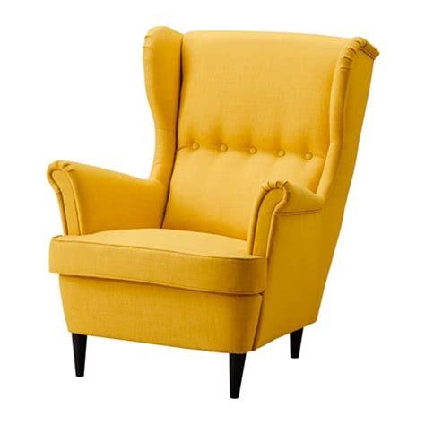 ikea tuin fauteuil strandmon oorfauteuil skiftebo geel ikea