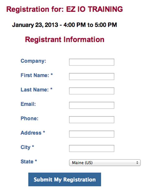 form layout event event registration form code sle branch cms