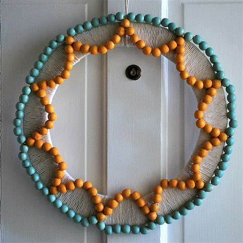 bead crafts wood bead summer wreath flickr photo