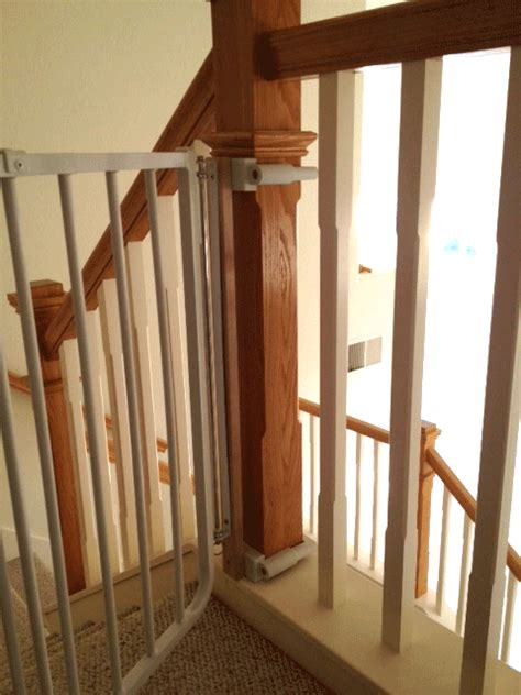 Banister Baby Gate by Custom Baby Gate Wall And Banister No Holes Installation