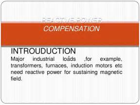 induction generator reactive power compensation reactive power compensation