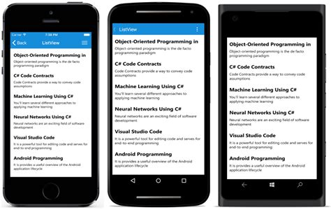 xamarin update layout getting started sflistview xamarin syncfusion
