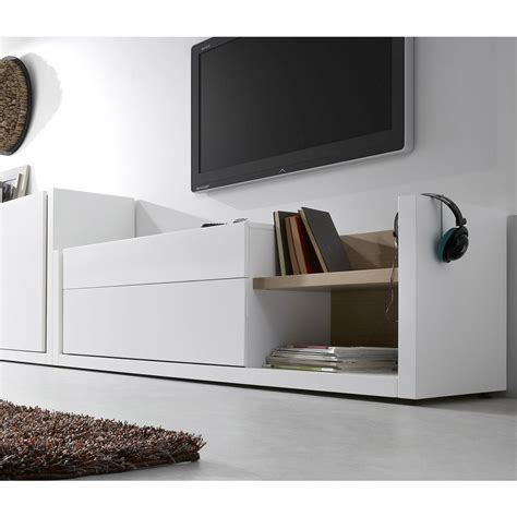 Sofa Tv Room Modern Design Tv Stand Made Of White Grey Laquered Wood Giove