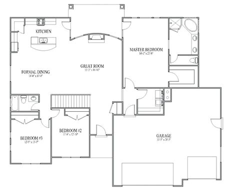 house floor plan with measurements simple house floor plans with measurements